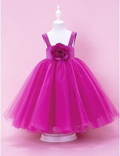 Fuchsia Girls Dresses Special Occasion Ball Gowns Tulle