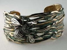 ≗ The Bee's Reverie ≗  Bumble Bee Cuff Bracelet by Bertoni Custom Designs