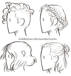 Hair Reference Sheet by *Kibbitzer The braids one was really difficult! BRAIDS ARE HELL. X'D Feel free to use it for your studies! but these are just some little previews, if you are interested you can find the complete series (27 hairstyles) and...