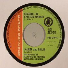 The artwork for the vinyl release of: Laurel Aitken | Girlie - Scandal In Brixton Market (Black Butcher) #music Dub