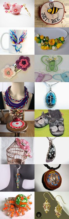 Gift ideas by Nata Bells on Etsy--Pinned+with+TreasuryPin.com Washer Necklace, Crochet Necklace, Gift Ideas, Diy, Gifts, Vintage, Jewelry, Presents, Jewlery