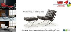 "Bellatrix Modern Leather ""X"" Leg Chair And Ottoman Lounge Set On Sale Now! www.athomefurnishingsfl.net"