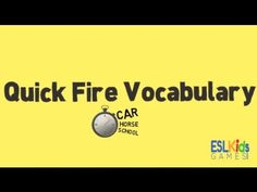 Quick Fire Vocabularyis a simple no-prep game to revise vocabulary. In this game students must try and explain the meaning of as many words as possible in 1 or 2 minutes.
