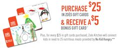 Zoës Kitchen offers gift cards perfect for anyone who loves Mediterranean food. Choose from eGift cards and traditional gift cards.