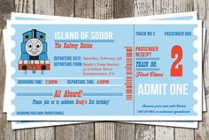 Thomas The Tank Engine Train Ticket Birthday By Olivepresspaper 1250 Parties
