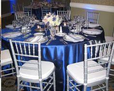 royal blue and black wedding decorations royal blue wedding table Blue Wedding Decorations Theme Royal Blue Wedding Decorations, Blue Wedding Centerpieces, Centrepieces, Blue Silver Weddings, Blue And Silver, Wedding Blue, Dream Wedding, Sapphire Blue Weddings, Blue Ivory