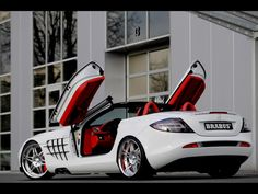 Mercedes-Benz SLR McLaren black and white by Mansory Renovatio special