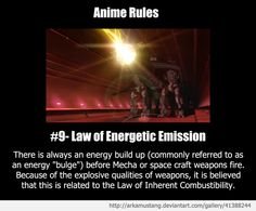 Anime Rule #9 by ArkaMustang.deviantart.com on @deviantART