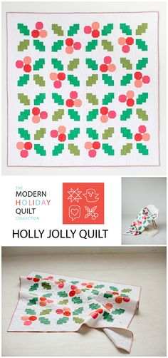 Holly Jolly Quilt Pattern available now.