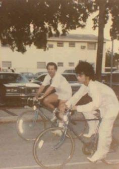 Prince on his bike - in heels!