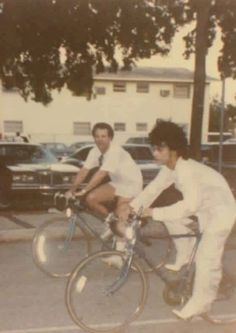 Prince on his bike - in heels!