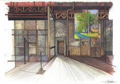¡Ay, Carmela! de José Sanchis Sinisterra. Dirección: Miguel Narros. 2006 #escenografia #dodorico #teatro Stage Set Design, Theatre Design, Theater, Sketches