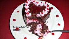 Παστες καρδούλες σοκολάτα-φράουλα απο τη Σόφη Τσιώπου