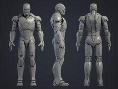 Page Iron Man Mark III - 'Work In Progress - Inorganic models/scenes' 3d Model Character, Character Modeling, Character Design, 3d Modeling, Iron Man Suit, Iron Man Armor, Robot Concept Art, Weapon Concept Art, Iron Man Fan Art