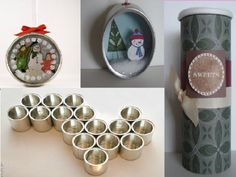 collage upcycled tins