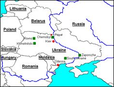 CHERNOBYL AND IT'S LEGACY: MAP OF UKRAINE