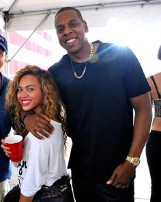Jay-Z --The KING with his -Queen Bey- <3