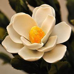 Capodimonte Porcelain White Lotus Flower