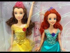 Disney Princess Ultimate Doll Collection Ariel, Belle, Cinderella, Rapun...