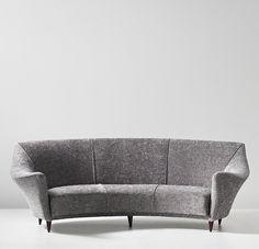 Ico Parisi; Stained Wood Sofa for Ariberto Colombo, c1949.
