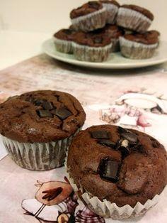 Estupendos 40: Magdalenas proteicas de coco y chocolate