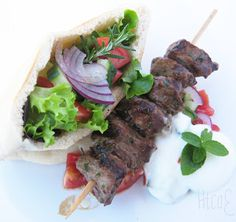 Lamb kebabs with pita pockets http://cookanelephant.blogspot.com/2012/09/spring-in-your-step.html