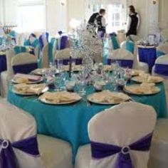 Love the purple and teal! I think this will be my table and chair linen idea! :)