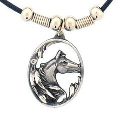 Earth Spirit Necklace - Horse Head in Oval - Earth Spirit Necklace on amazon for $13.95 on sale + Free Shipping  find more items like this at www.ddsgiftshop.com