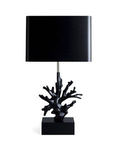 Love this black lamp ~ Elle Decor's Trend Alert: Under the Sea