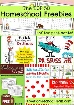 Top 50 HOMESCHOOL FREEBIES of the Past Month!