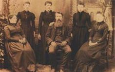 Laura Ingalls Wilder with Pa, Ma and her sisters.