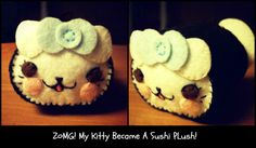 Hapy Friends Shoppe: How To Make A Kawaii Kitty Sushi Plushie Tutorial