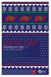 3a3b95d86 CSUF s Snow Day on Behance — Designspiration Christmas Messages
