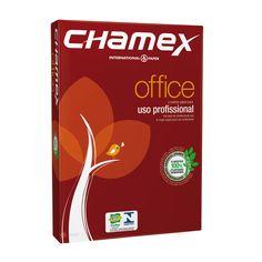 PAPEL SULFITE CHAMEX A4.               75g/m² alcalino 210x297 Office  Papel ideal para os equipamentos do escritório. Alto desempenho profissional. Gramatura: 75 g/m2. Formatos: A4 (210 x 297mm). Resma de Papel Sulfite com 500 folhas.          Preço Varejo: R$