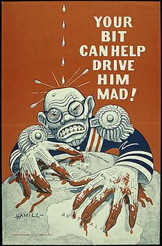 One of my college history papers--WW2 Anti-Japanese propaganda posters--it is fascinating!