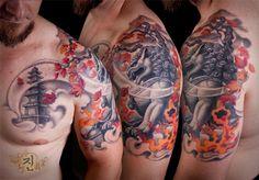 Foodog half sleeve Tattoo