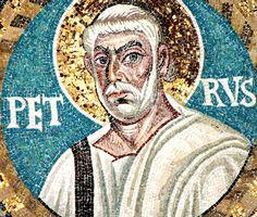 Basilica di San Vitale, Ravenna. I Mosaici bizantini, 546-547. Il periodo di Giustiniano. SAN PIETRO