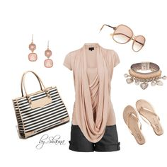 I love this classy summer look, created by shauna-rogers