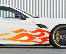 auto vlammen  #autostickers #autovlammen