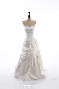 Satin simple A-line wedding dress $278.98