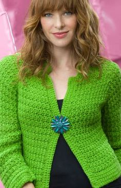 free Sparkling Cardi crochet pattern
