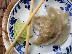 We are really feeling these Asparagus, Fennel, Mushroom, and Tofu Dumplings.