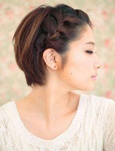 Une tresse de cote pour les cheveux courts