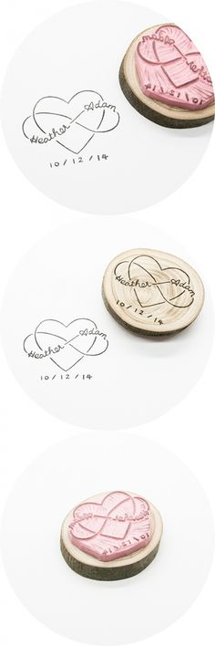 Infinity Love, custom wedding stamp hand-carved in Stockholm, Sweden. This is…