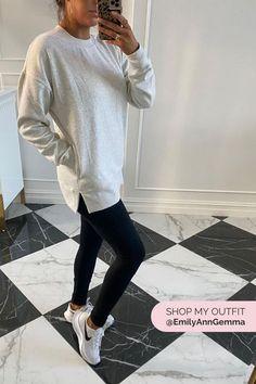ZELLA Amazing Crewneck Sweatshirt , ZELLA Live in High Waist Leggings, NIKE Air Zoom Pegasus 37 TB Running Shoe. Emily Gemma, The Sweetest Thing Blog #EmilyGemma #theSweetestThingBlog #NSALE Lazy Outfits, New Outfits, Cool Outfits, Casual Outfits, Leggings Sale, Best Leggings, Clothing Blogs, Clothing Ideas, Donna Karan Cashmere Mist