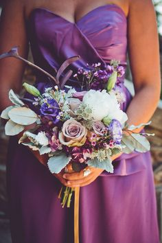 Lavender Wildflower Bouquet | photography by http://www.markwilliamsstudio.com