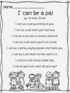 Perfect to use as the first poem of the year when introducing poetry journal routine & procedures from A Day In First Grade
