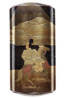 A roiro lacquer four-case inro 19th century