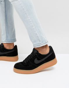 Nike Air Force 1 '07 LV8 Suede Trainers In Black AA1117-001
