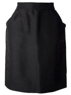CHANEL VINTAGE structured skirt #skirt #chanel #women #designer #covetme #chanelvintage